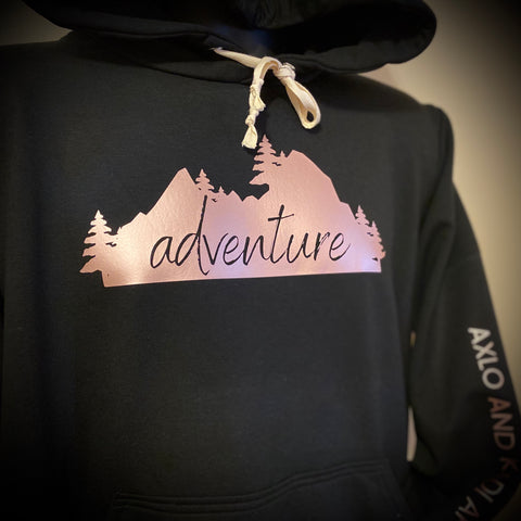 Bamboo Rose Gold Adventure Hoodie Black