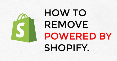 Shopifyで【Powered by Shopify】を表示させない方法