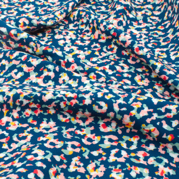 Animal Print Viscose - Blue - 1/2 meter