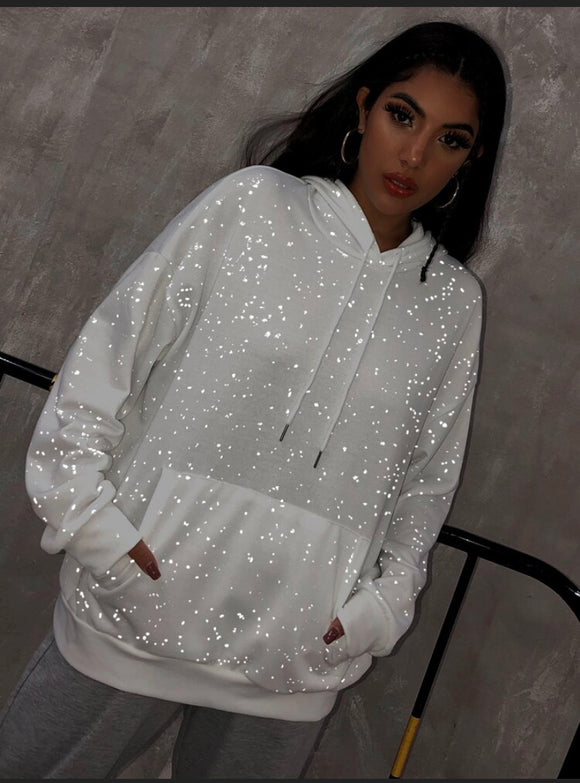 Dance in the Night Oversized Sparkle Hoodie - ODDSALTBoutique