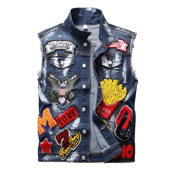 Men Patchwork Vest - ODDSALTBoutique