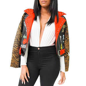 Lightweight Cropped  Biker Jacket - ODDSALTBoutique
