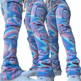 Double Plush Tie Dye Stacked Pants - ODDSALTBoutique