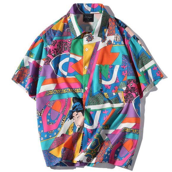 Men Abstract Button Down - ODDSALTBoutique