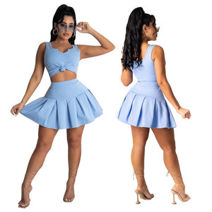 Retro Tennis Skirt Vibe Set - ODDSALTBoutique