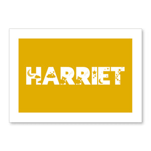 Dreamy Kids Personalised Name Print Mustard A4 / A5