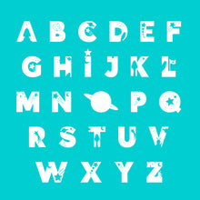 Load image into Gallery viewer, Space Kids Personalised Name Print Turquoise A4 / A5