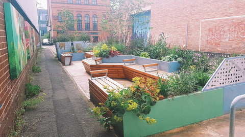 Parklet in Salford, Greater Manchester
