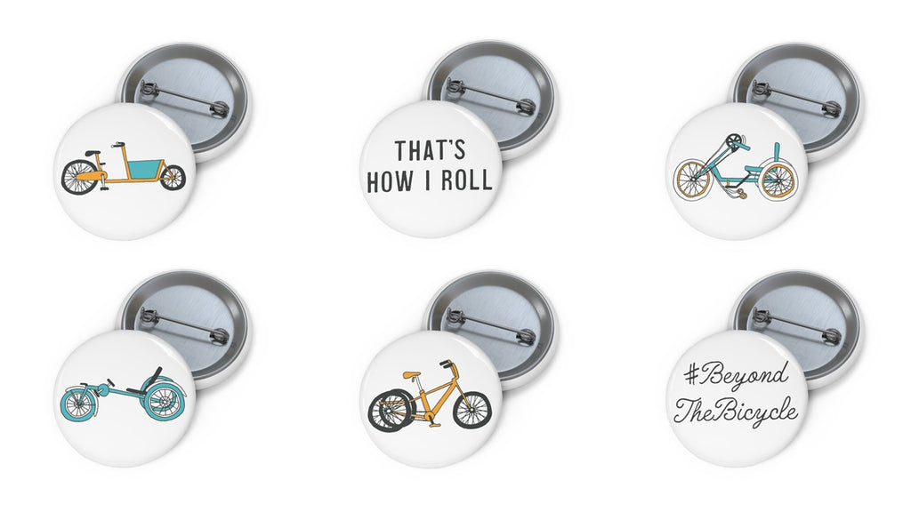 That's how I roll set of 6 badges