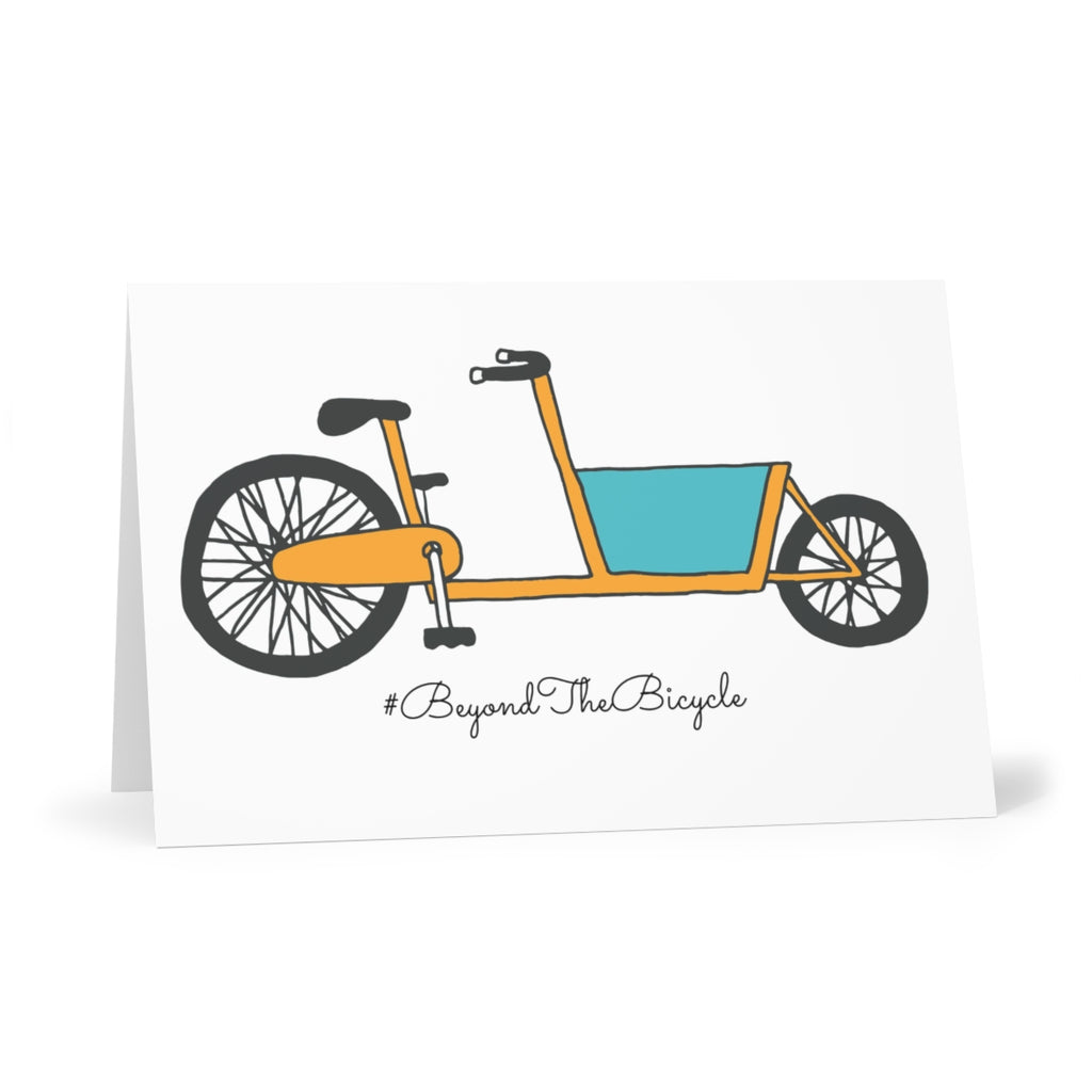 Cargo bike greetings card