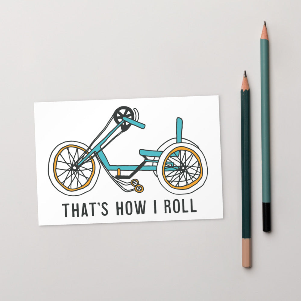Hand cycle postcard