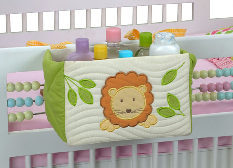 Blooming Buds Cot Tidy/ Essentials Organizer - Lion (Green)