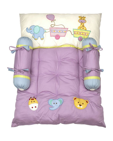 Blooming Buds Little Circus Mattress Set (Purple)