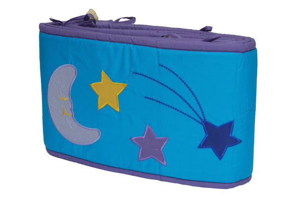 Blooming Buds Sweet Lullaby Full Cot Bumper (Blue)
