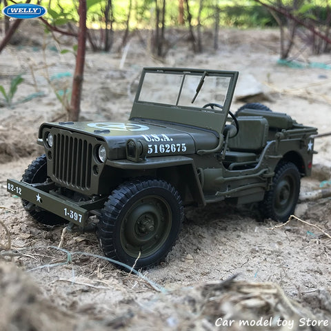 Jeep Willis (1941) - Welly 1:18 Voitures miniatures