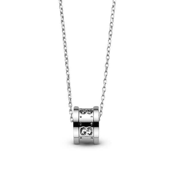 Gucci 18K White Gold Icon Twirl Necklace