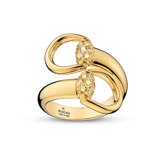 Gucci Horsebit Ring in Yellow Gold