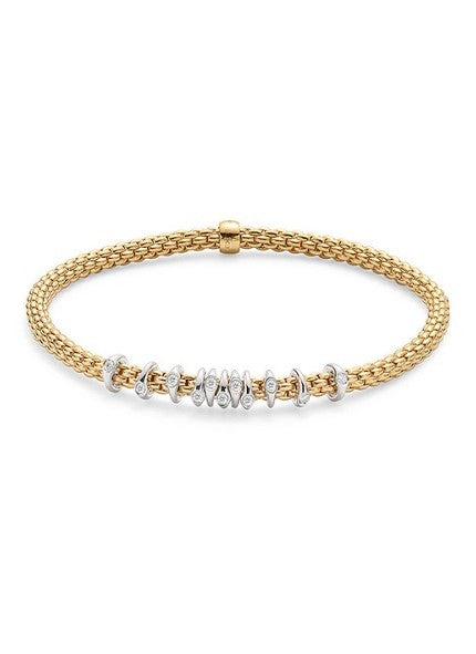 FOPE Prima Collection Flex'It Bracelet with Diamond Rings