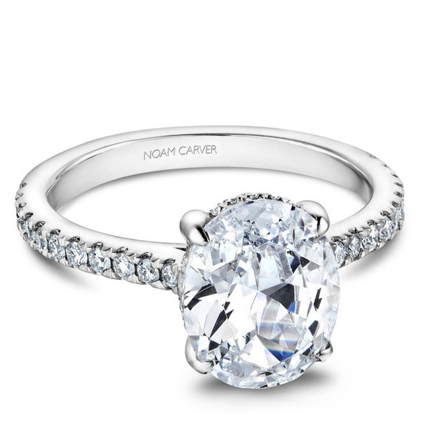 Noam Carver White Gold Solitaire Engagement Ring (B354-01WA)