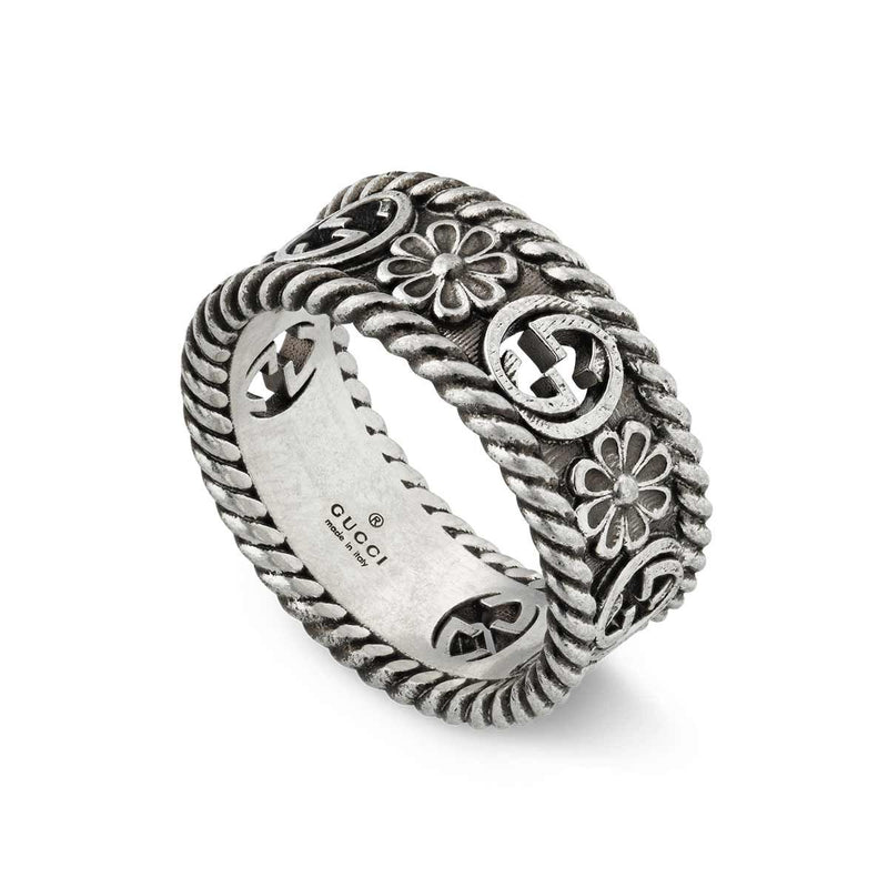 Gucci Silver Interlocking G Ring
