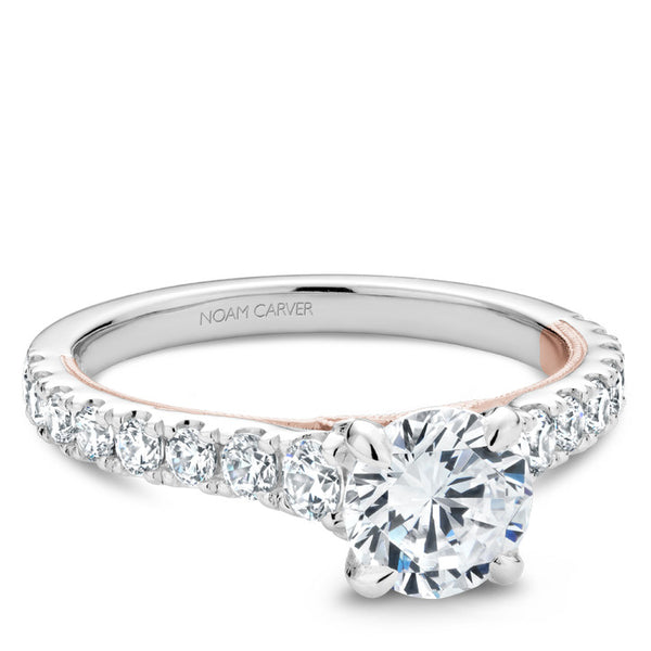 Noam Carver White and Rose Gold Diamond Engagement Ring (B332-01WRA)