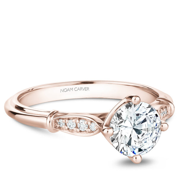 Noam Carver 14K Rose Gold Diamond Engagement Ring (B268-01RA)