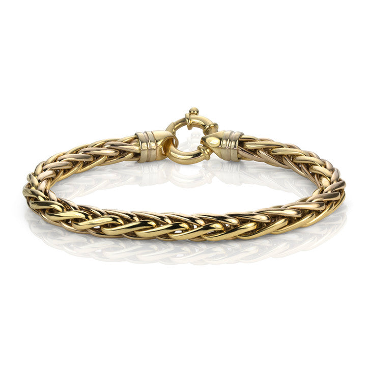 14K Yellow Gold Hollow Link Bracelet