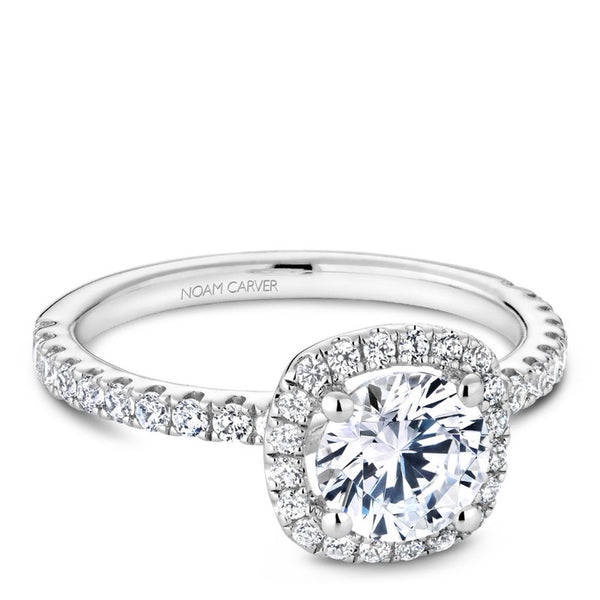 Noam Carver 14K White Gold Diamond Engagement Ring (B223-01A)