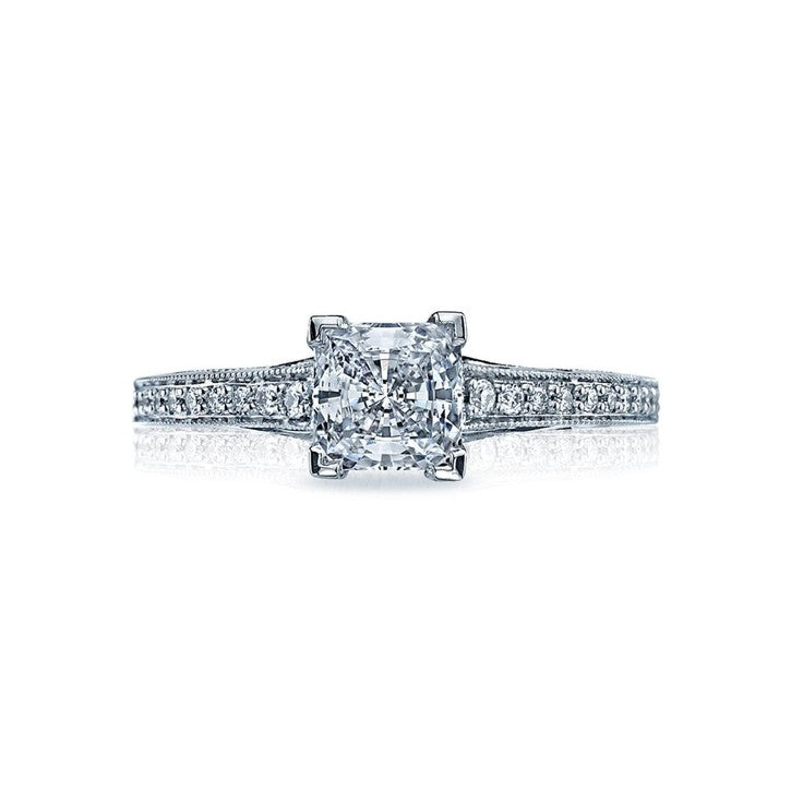 Tacori Sculpted Crescent 18K White Gold Diamond Engagement Ring