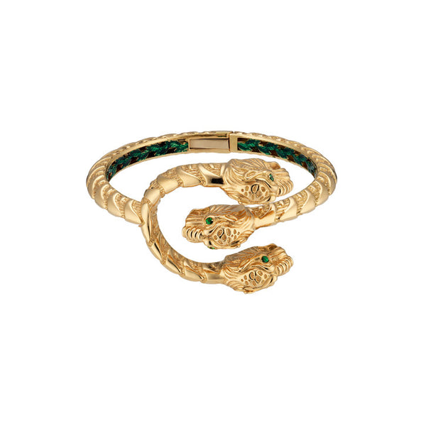 Gucci Dionysus Bracelet in 18K Yellow Gold with Tsavorites