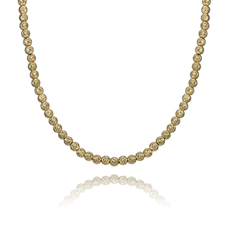 18K Yellow Gold Hammered Ball Chain