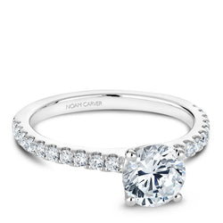 Noam Carver 14K White Gold Diamond Engagement RIng (B101-01A)