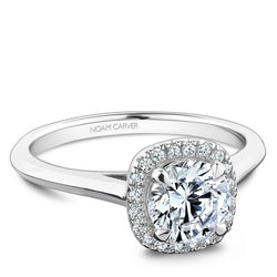 Noam Carver White Gold Diamond Halo Engagement Ring (B096-05WA)