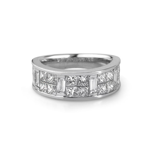 18K White Gold Channel Set Diamond Ring