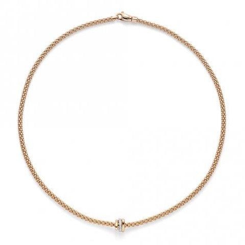 FOPE Prima Collection Flex'It Necklace with Diamond Rondel