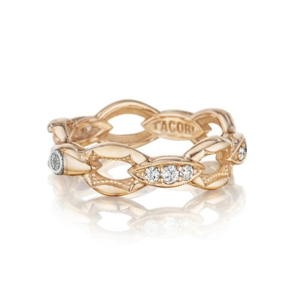 Tacori The Ivy Lane Pavé Crescent Links Ring in Rose Gold
