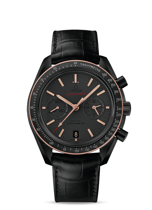 "OMEGA Speedmaster Dark Side of the Moon ""Sedna Black"" Co‑Axial Chronometer Chronograph 44.25 mm"