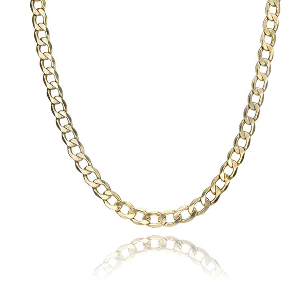 10K Yellow Gold Curb Link Necklace