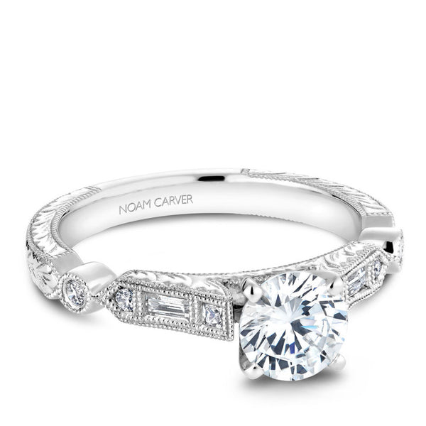 Noam Carver 14K White Gold Diamond Engagement Ring (B053-01A)