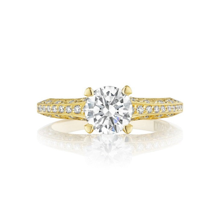 Tacori Classic Crescent 18K Yellow Gold Engagement Ring