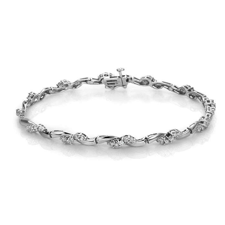 14K White Gold Diamond Bracelet