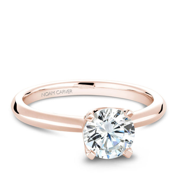 Noam Carver 14K Rose Gold Diamond Engagement Ring (B027-03RA)