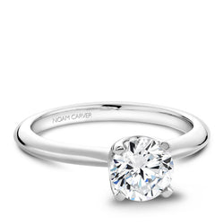 Noam Carver 14K White Gold Engagement RIng (B027-01A)