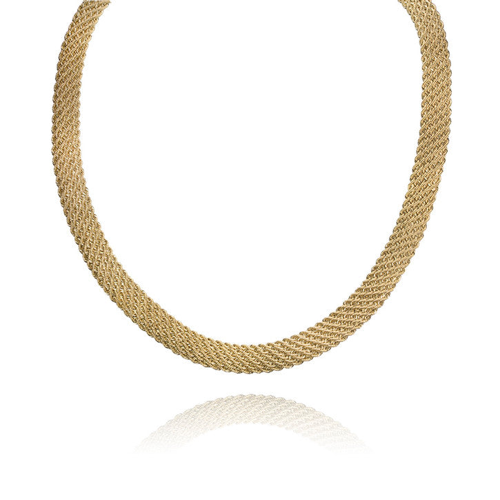 14K Yellow Gold Multi Strand Necklace