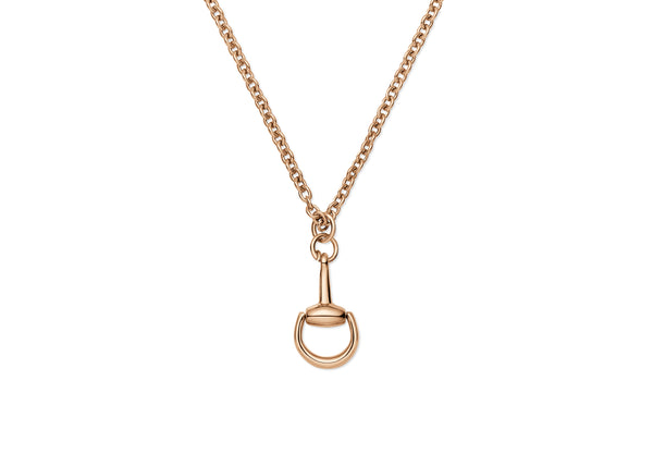 Gucci 18K Rose Gold Horsebit Necklace