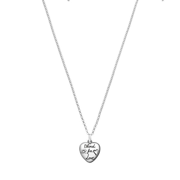 Gucci Silver Blind for Love Necklace