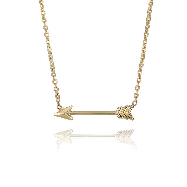 10K Yellow Gold Arrow Necklace