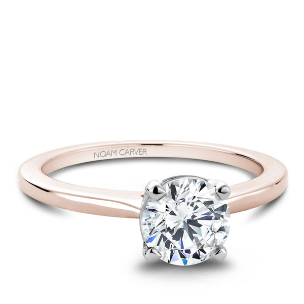 Noam Carver 14K Rose and White Gold Engagement Ring (B018-01RA)