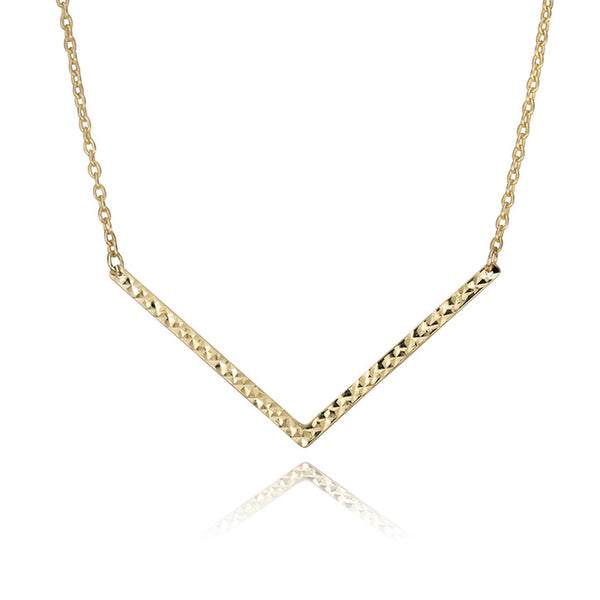 "10K Yellow Gold ""V"" Necklace"