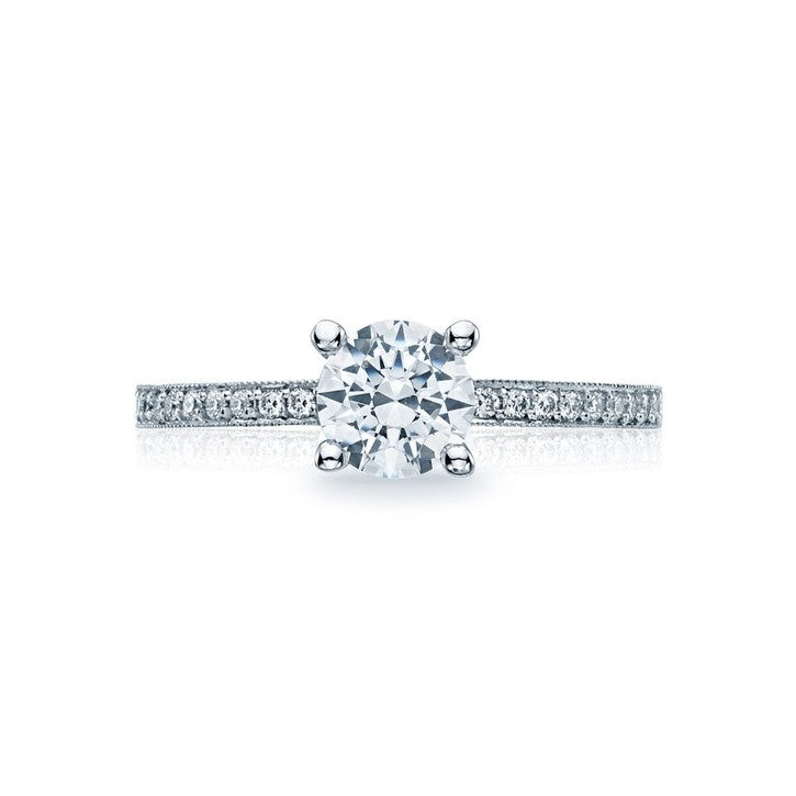 Tacori Reverse Crescent 18K White Gold Diamond Engagement Ring